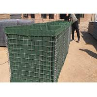 Quality Longlife Hesco Bastion Barrier , Green Hesco Gabion Box Filled With Sand for sale