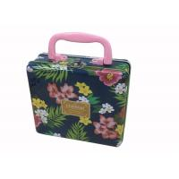 Quality Kids Rectangular Tin Containers With Portable Handle for sale