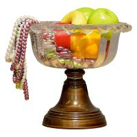 Quality hotel Fruit Glass Plate Stand for sale