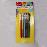 Quality Easter Plastic Multi Head Bullet Push Pencil Logo Printing With Cap for sale
