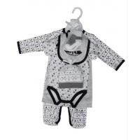 Quality Summer Six Piece Baby Clothes Gift Set 180G 60% Cotton 40% Polyester Interlock for sale