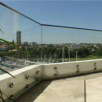 Quality Outdoor Frameless Balcony Glass Balustrade with Stainless Steel Glass Standoff for sale