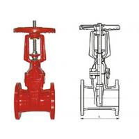 Quality Ductile cast iron RRHX rising stem resilient seated gate valve for fire protection API 598 for sale
