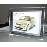 Quality Lighting Clear Advertising Acrylic Photo Frames With LED Light for sale
