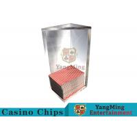 Quality 250g Triangle 6 Deck Card Holder High Capacity With Special Acrylic Material for sale