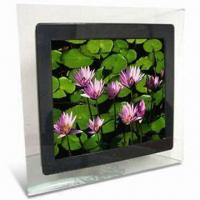 Quality 15-inch Digital Photo Frame with MPEG1, MPEG2, MPEG4, AVI and DIVX Video Formats for sale
