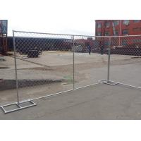China Hot Dipped Galvanized Portable Chain Link Fence Panels 60X50mm Mesh Size on sale
