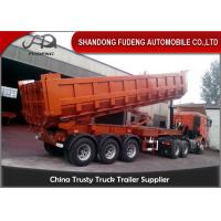 Quality Large Volume Rocker Transport Dump Tractor Trailer 40M3 With Hyva Hydraulic Cyclinder for sale