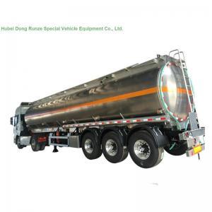 Quality 5083 Aluminium Alloy Tank Semi Trailer 40000L , Fuel Oil Delivery Tanker 3 Axle for sale