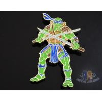 Buy Custom Logo Ninja Turtle Zinc Alloy Metal Lapel Pin Bages, Cut Out Stye Shiny Gold Plating With Rupper at wholesale prices