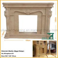 Carved Stone Natural Fireplace Mantel for Indoor Decoration