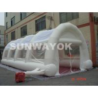 China White Large Inflatable Tent With Waterproof Double Stitching PVC Material wholesale