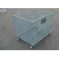 Quality Metal Steel Wire Pallet Cages Turnover / Storage / Recycling For Goods for sale