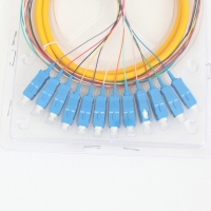 Quality FC ST MTP MPO Multimode Fiber Pigtail 12 Core SC UPC 10G Fiber Pigtail for sale