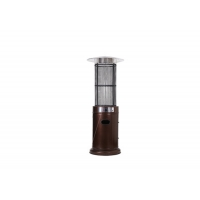 China Outdoor free standing Silver Stainless Steel Cylindrical patio heater outside space heater on sale