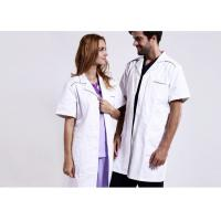 Quality Unisex Practical White Doctor Lab Coat Eco - Friendly Unique Design With Buttons for sale