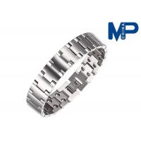 Quality Women and men promotional metal bracelet nickel brushed finish for sale