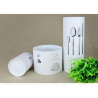 China Creative White Cardboard Paper Composite Cans with different sizes for Knife and Fork on sale