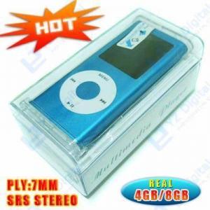 Ultrathin OEM MP3 MP4 Player Ture 2GB 4GB 8GB + Nano 2 Case