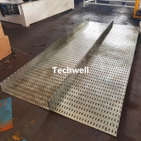Buy cheap 100-600mm Perforated Cable Tray Making Machine With Hydraulic Punching Pre from wholesalers