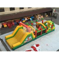 Buy cheap Challenging Inflatable Obstacle Course Bounce House Red , Blue , Black from wholesalers