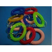 Quality Plastic Spring Coil with Key Ring, Plastic Spiral for sale