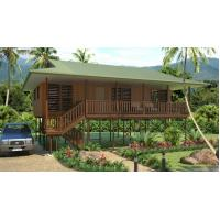 China Light Steel Framing Wooden Bungalow /  High Acoustic Insulation Home Beach Bungalows on sale