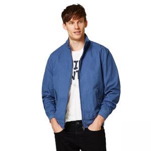 Quality Full Sleeve Denim Fabric Casual Jean Jackets / Adult Blue Denim Jacket for sale