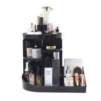 Quality 2 in 1 makeup display rack storage case 360 degree rotating acrylic cosmetic storage organizer for sale