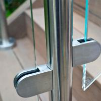 Quality Frameless Glass Guard Deck Railing with Solid Clamps Made In China for sale