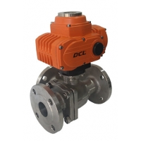 Quality 3 Way Ball Valve 400Nm DC Rotary Actuator for sale