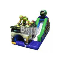 China Exciting / Challenging Inflatable Obstacle Courses With Slide SGS Certification wholesale