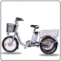 Quality CE Approved 36V 250W White Electric Tricycles Lithium Battery 3 Wheel Electric Bike for sale