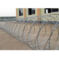 Buy cheap Heavy Duty Galvanized Razor Wire , Barbed Concertina Barbed Tape from wholesalers