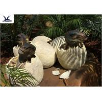 Quality Playground Park Dinosaur Garden Ornaments Hatching Animatronic Dinosaur Egg Decoration for sale