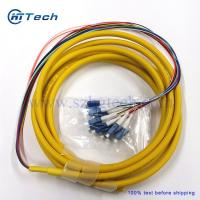 Buy cheap 12Strand LC Fiber Optic Pigtails Singlemode Yellow Color Jacketed 2Meter from wholesalers