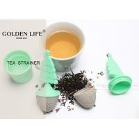 Quality Silicone Tea Coffee St Strainer Herbal Spice Infuser Filter Diffuser 304 Stainless Steel for sale