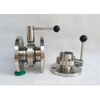 """Quality 1"""" TP316L Sanitary Stainless Steel Valves And Butterfly Vavles ASTM A270 for sale"""