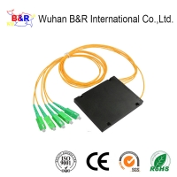 Quality FTTH 4 Way ABS PLC Splitter With LC Connector for sale