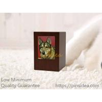 Quality Good Quality Pet Aftercare Rich Cherry Wooden Photo Frame Funeral Supply Cremation Ashes Urn Box. Guality Guarantee. for sale