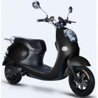Quality Black Color Electric Moped Scooter , 60V / 72V Electric Scooter Bike With Pedals for sale