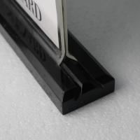 Quality Wholesale custom logo 8.5*11 Acrylic sign holder with black base for sale