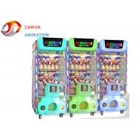 Quality Crazy Toy 3 Vending Arcade Prize Machines Beautiful Led Lighting 1 Player for sale