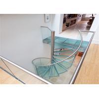 Buy cheap Glass Sprial Stair Small Diameter Spiral Staircase Customize Spiral Shape from wholesalers