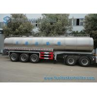 Buy 45m3 304 2B Edible Grade Chemical Tank Trailer 3 Axle For Milk / Liquid Food at wholesale prices
