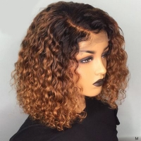Buy cheap water wave bob wigs Human Hair front lace human hair from wholesalers