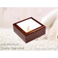 Quality Cheap Affordable Wholesale Small Order Wooden Keepsake Memorial Pet Urn Box with Picture Frame, Laser Engrave Logo for sale