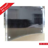 OEM Acrylic Magnetic Photo Frame / Acrylic Curved Black Picture Frame