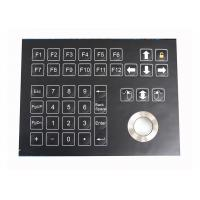Buy cheap 38 Keys Panel Mount Industrial Membrane Keyboard With Trackball OMRON Switch from wholesalers