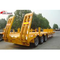 Quality 45 - 100 Tons Lowboy Drop Deck Trailer , 3.5 Bolted King Pin Low Flatbed Trailer for sale